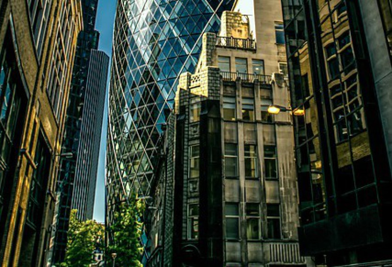 Street view of Gherkin, London