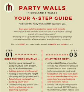 Document explaining everything you need to know about party walls, whether you're planning work yourself or your neighbour wants to build on or near your property's boundary